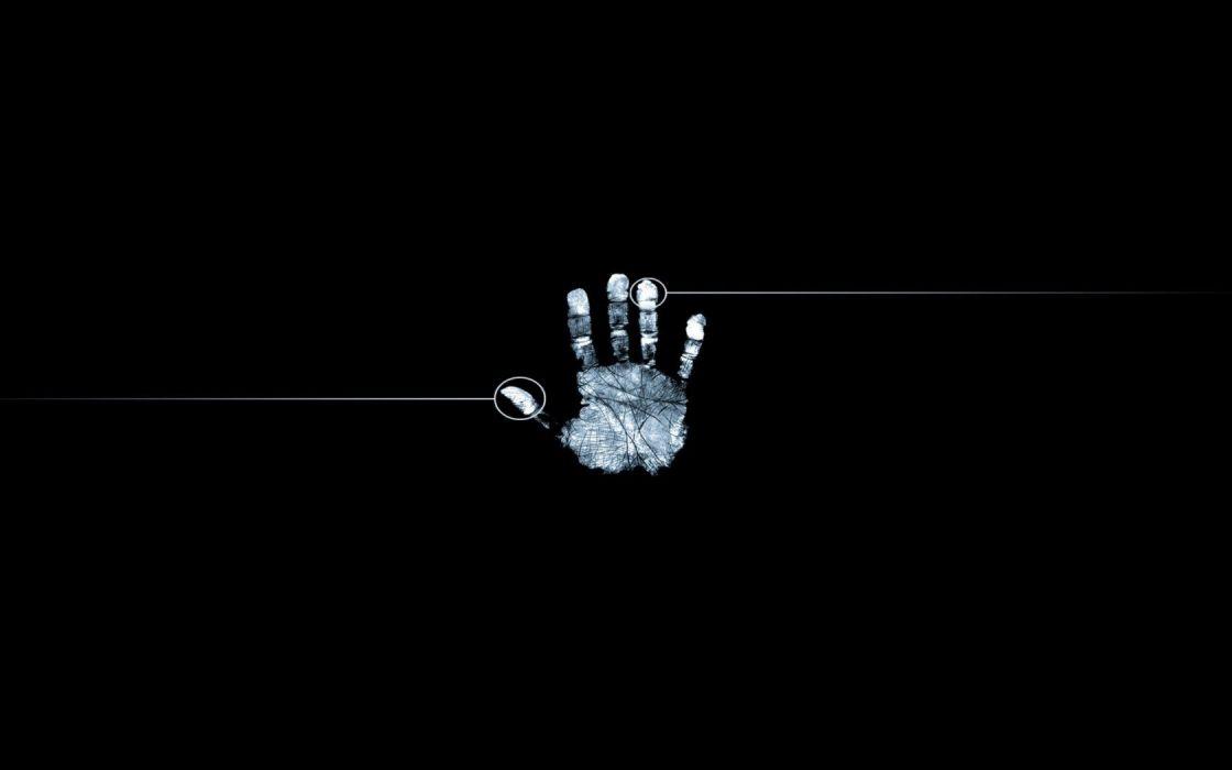 abstract dark hands fingerprints wallpaper
