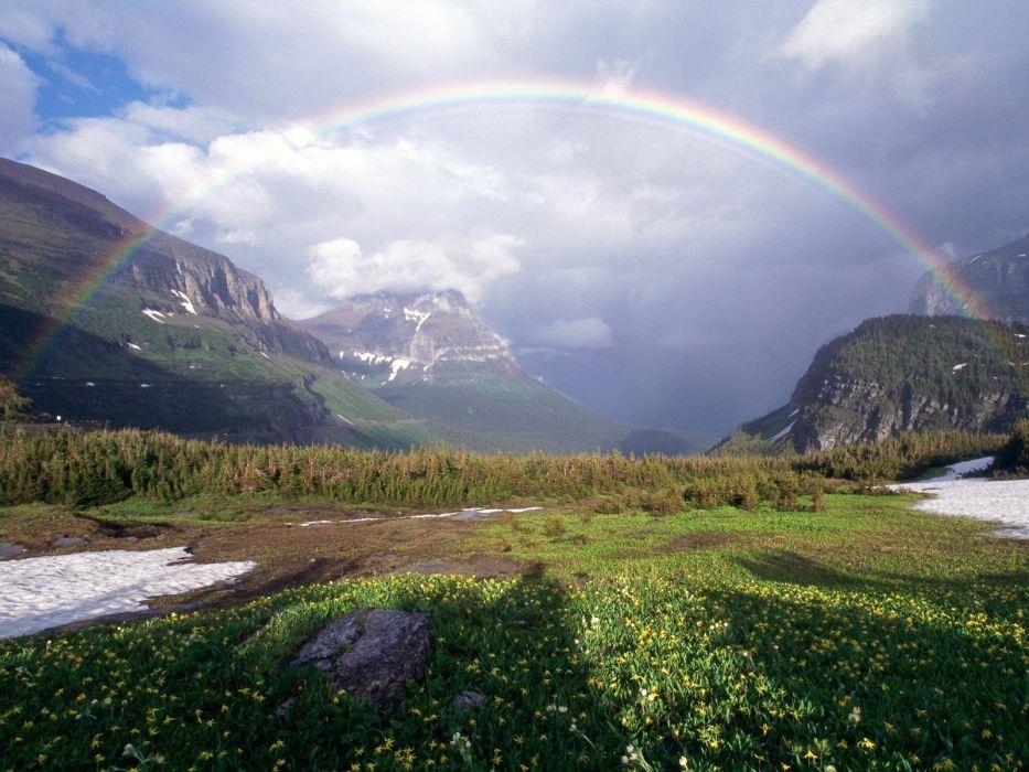 nature peace glacier rainbows international logan wallpaper