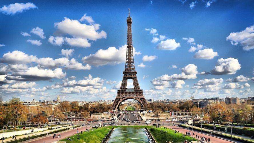 Eiffel Tower Paris cityscapes urban wallpaper