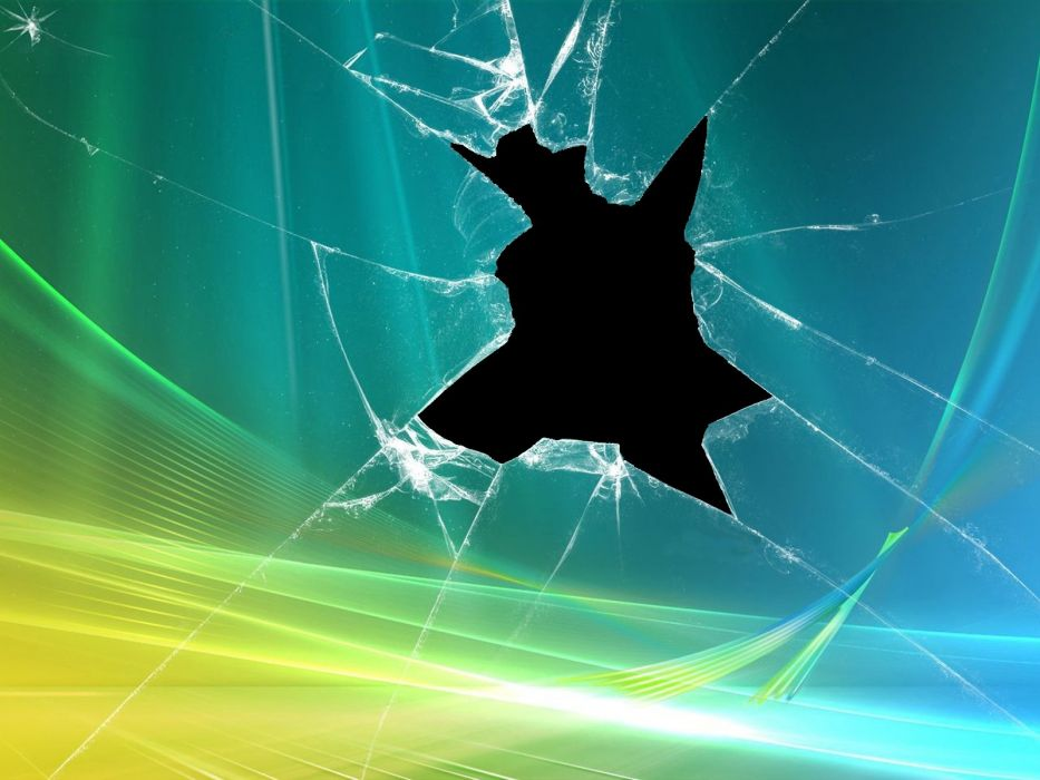 broken broken screen parody Windows Vista wallpaper
