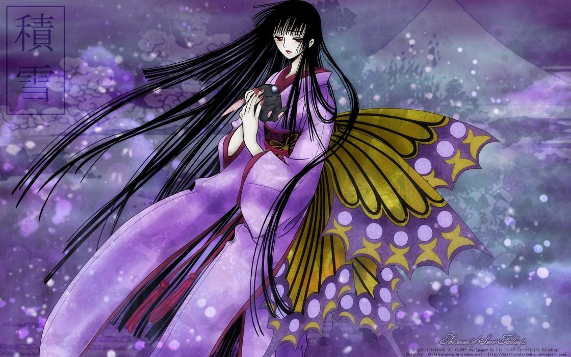 women Mokona xxxHolic anime manga Japanese clothes Ichihara Yuuko wallpaper