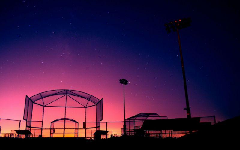 dawn stars baseball field wallpaper