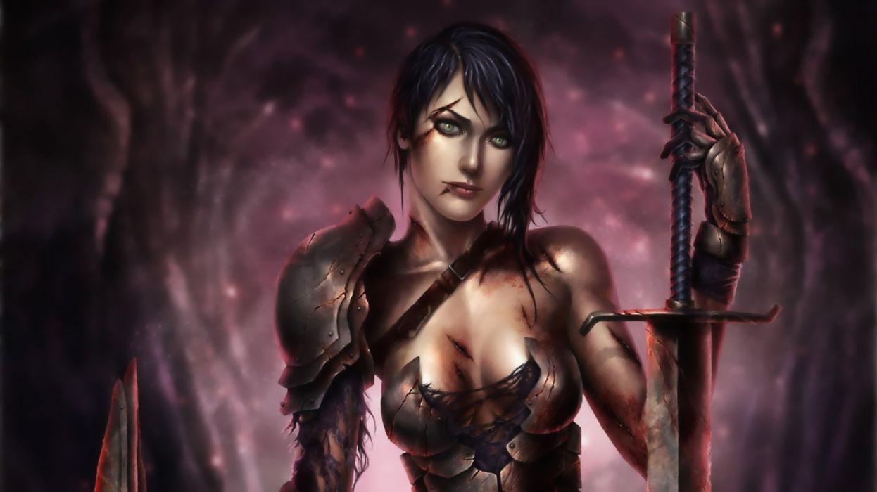 woman warrior wallpaper
