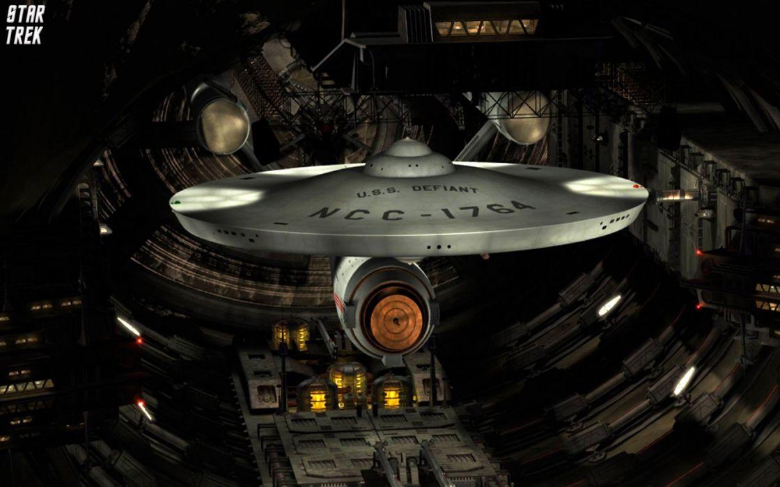 Star Trek USS Defiant NCC1764 In Tholian Drydock freecomputerdesktopwallpaper 1680 wallpaper