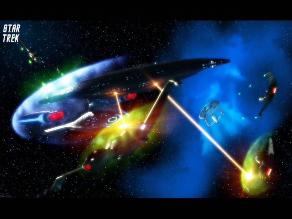 Star Trek USS Enterprise D Versus Klingon Bird Of Prey freecomputerdesktopwallpaper 1600 wallpaper