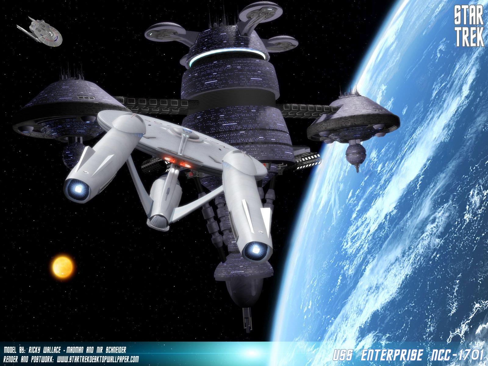 Star Trek Uss Enterprise Ncc1701 Freecomputerdesktopwallpaper 1600