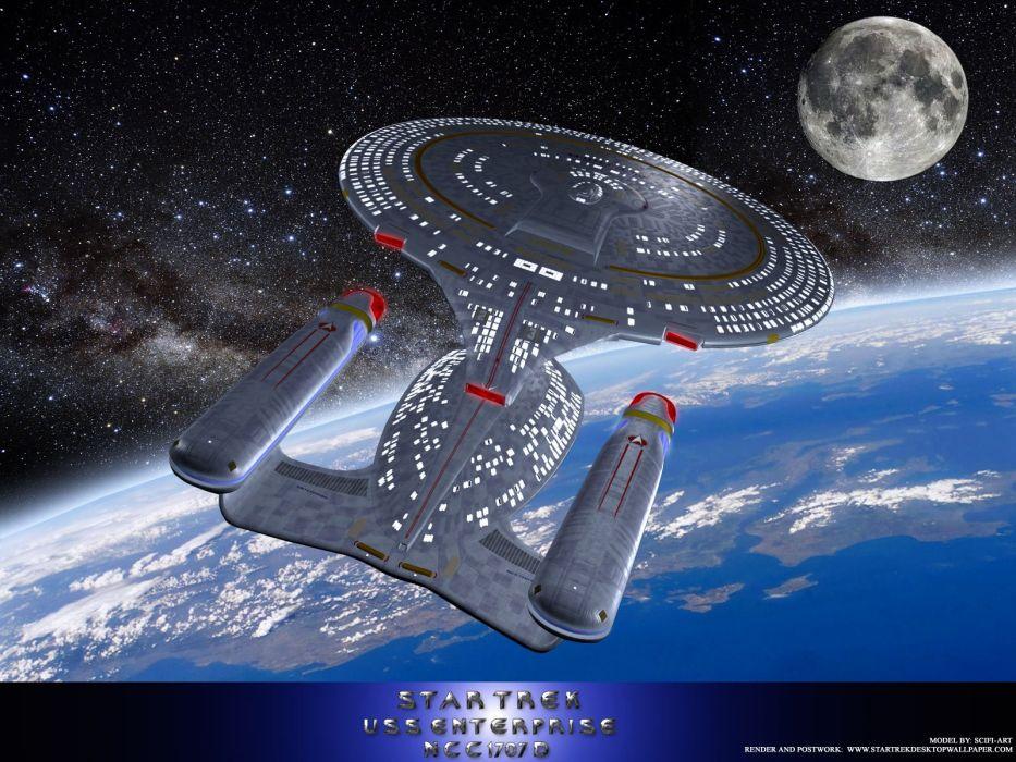 Star Trek USS Enterprise NCC1707D The Next Generation freecomputerdesktopwallpaper 1600 wallpaper