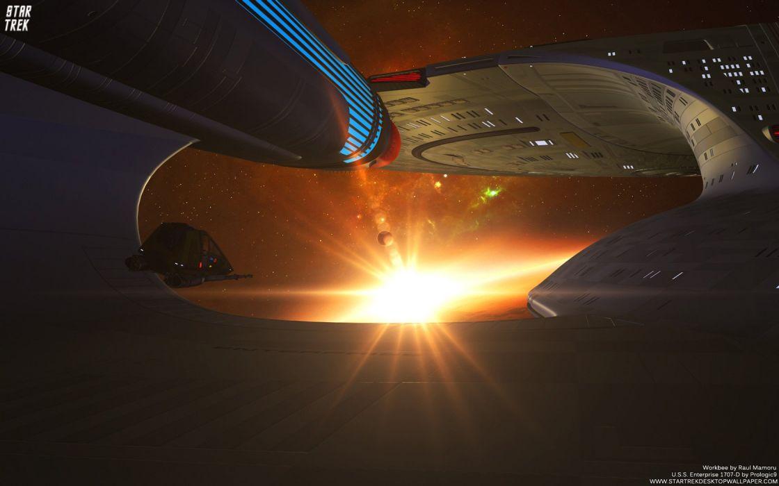 Star Trek USS Enterprise1707D Sunset freecomputerdesktopwallpaper 1680 wallpaper