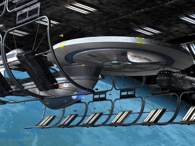 Star Trek USS Excelsior In Spacedock freecomputerdesktopwallpaper 1600 wallpaper