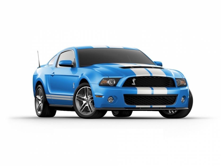 muscle cars front Ford Shelby Grabber blue White stripes Ford Mustang Shelby GT500 wallpaper