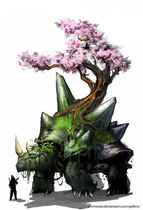 Pokemon paintings video games nature trees turtles illustrations fantasy art digital art artwork drawings airbrushed wallpaper