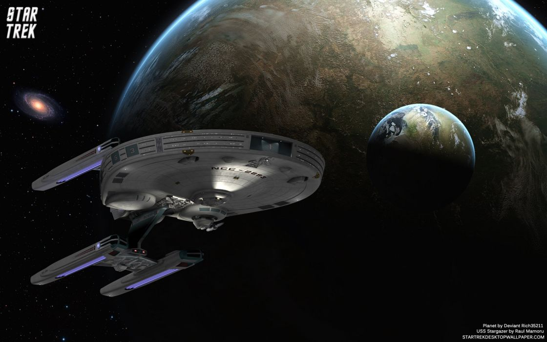 Star Trek USS Stargazer freecomputerdesktopwallpaper 1680 wallpaper