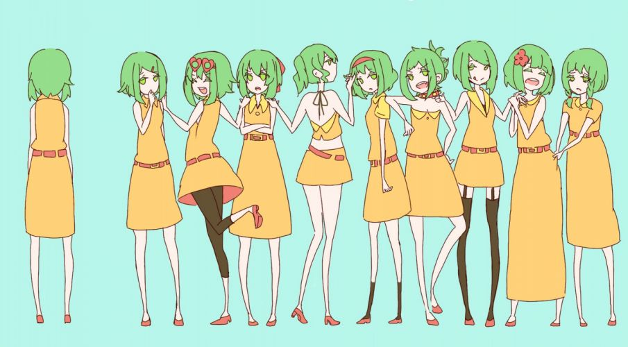 Vocaloid green hair Megpoid Gumi wallpaper