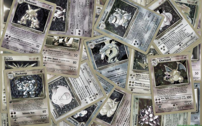 cards Pokemon gray Blastoise Mewtwo Ninetails Gyarados desaturated Zapdos Nidoking Charizard Chansey Alakazam Pokemon cards Machamp wallpaper