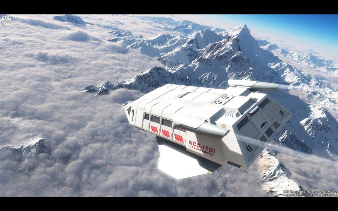 Star Trek USSEnterprise Shuttlecraft freecomputerdesktopwallpaper 1680 wallpaper