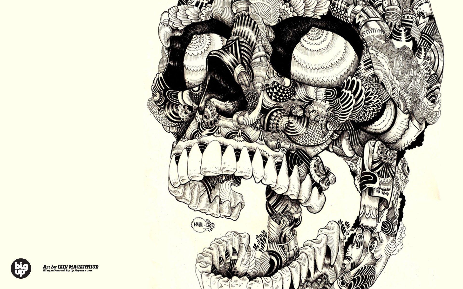 Skulls Artwork Sugar Wallpaper