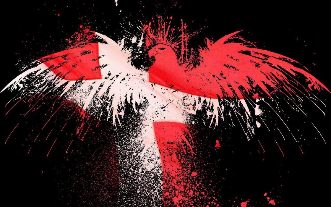 eagles flags Denmark wallpaper