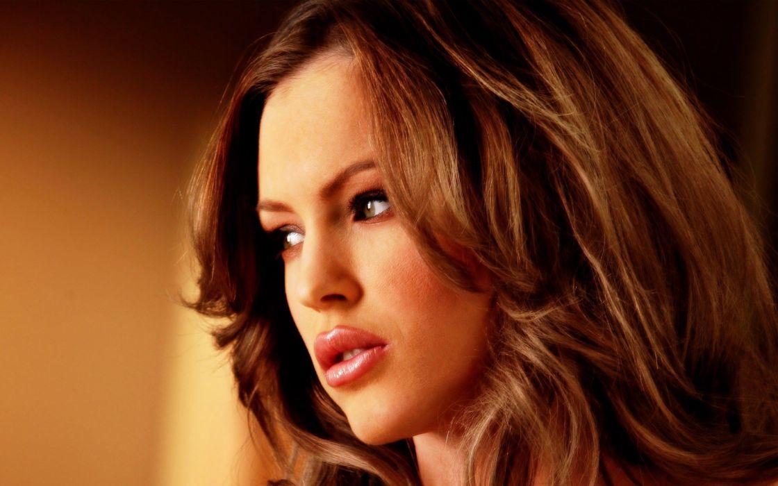 brunettes women close-up Jenna Presley faces wallpaper