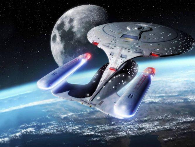 Star Trek USS Eenterprise D starship in orbit freecomputerdesktopwallpaper 1600 wallpaper