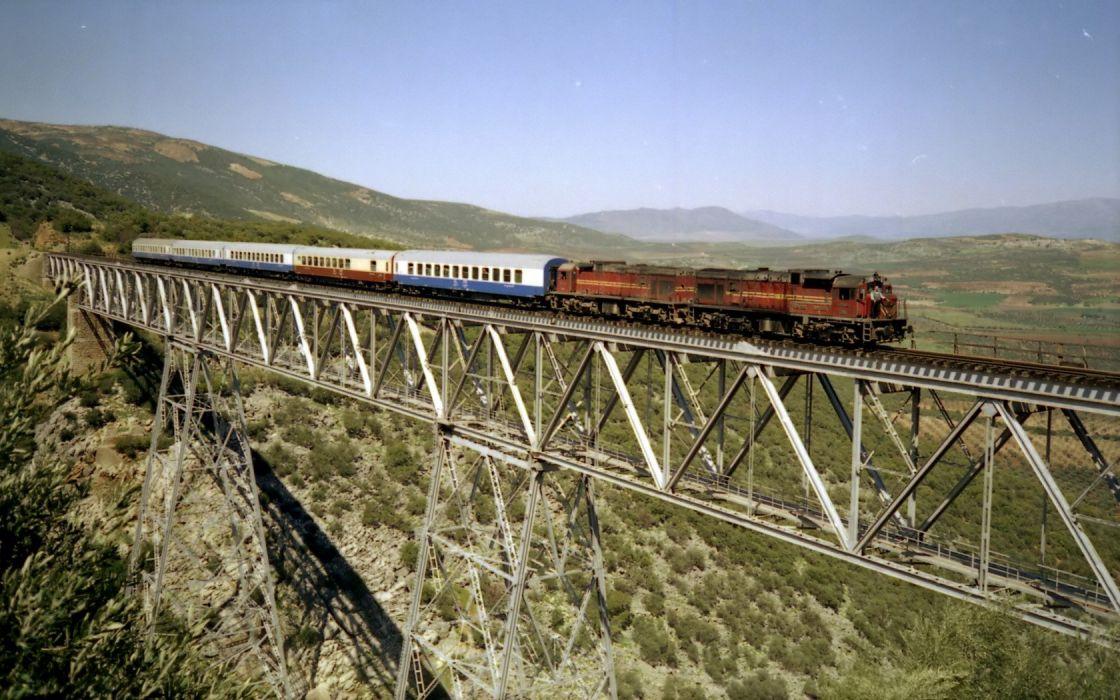 trains bridges railroad tracks vehicles wallpaper