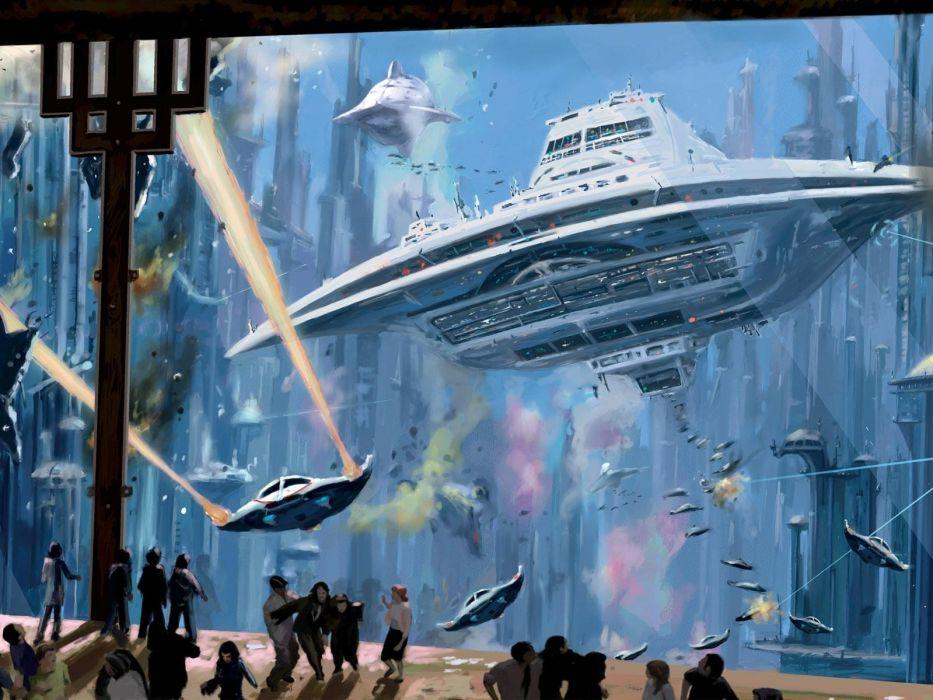 fantasy science fiction wallpaper