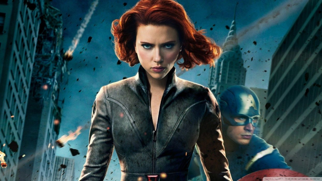 Scarlett Johansson movies Captain America redheads Black Widow Chris Evans Natasha Romanoff The Avengers (movie) wallpaper
