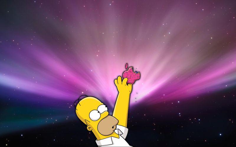Apple Inc_ Homer Simpson technology donuts wallpaper