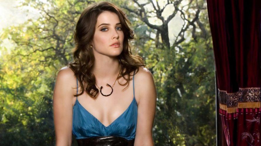 brunettes women nature Cobie Smulders necklaces wallpaper