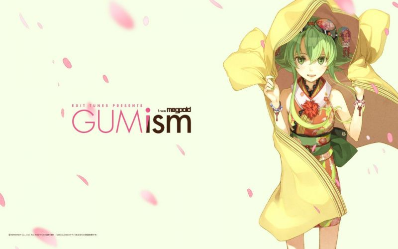 Vocaloid Megpoid Gumi soft shading wallpaper