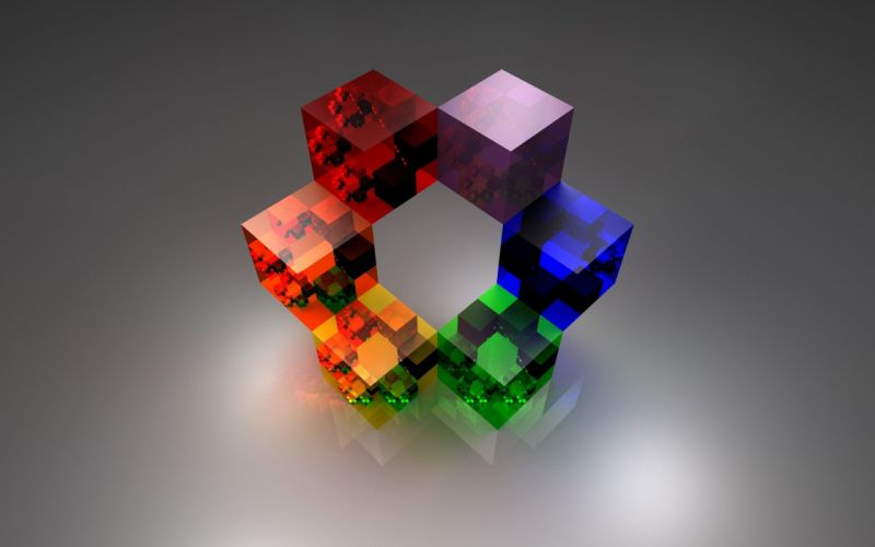 abstract multicolor cubes wallpaper