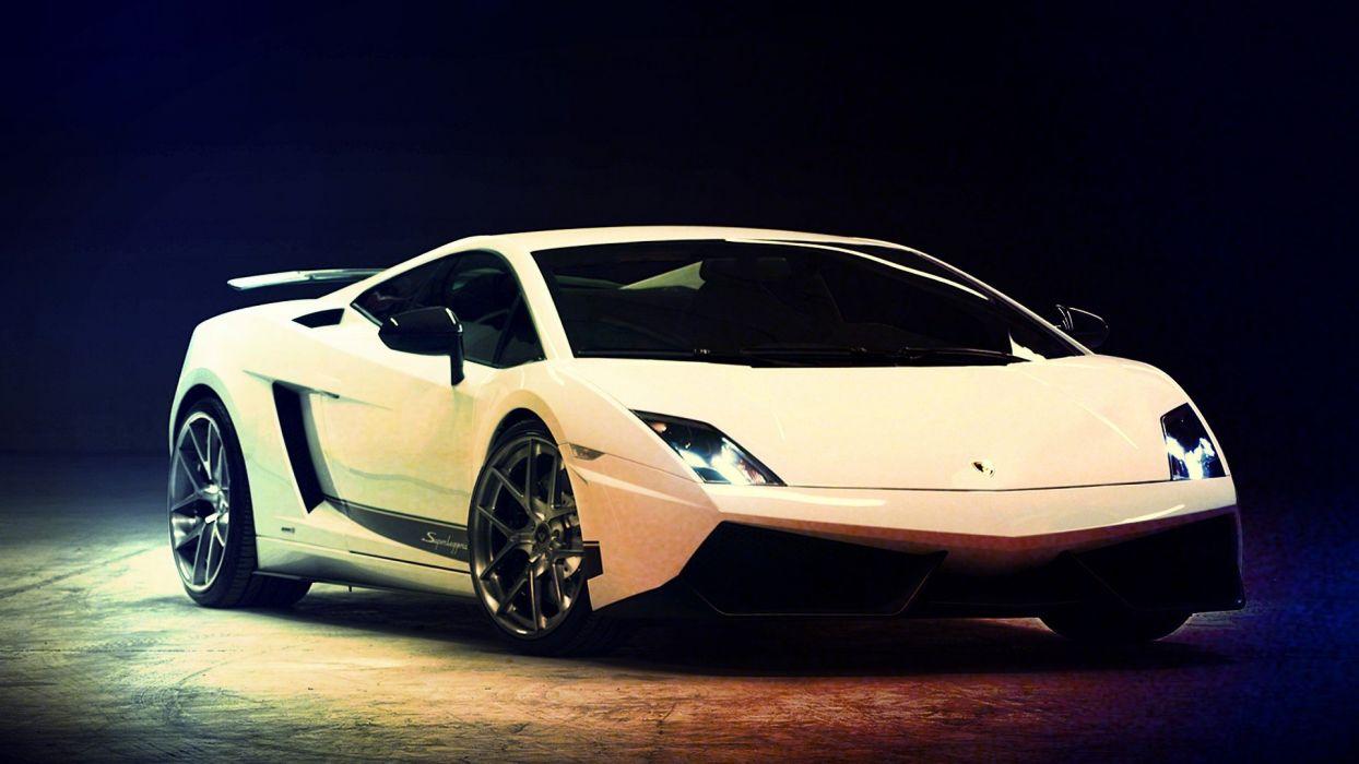 white cars Lamborghini Gallardo Vorsteiner wallpaper