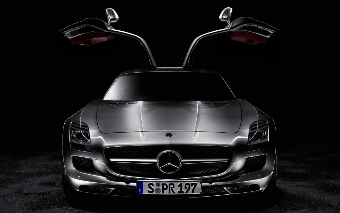 cars black background Mercedes Benz wallpaper