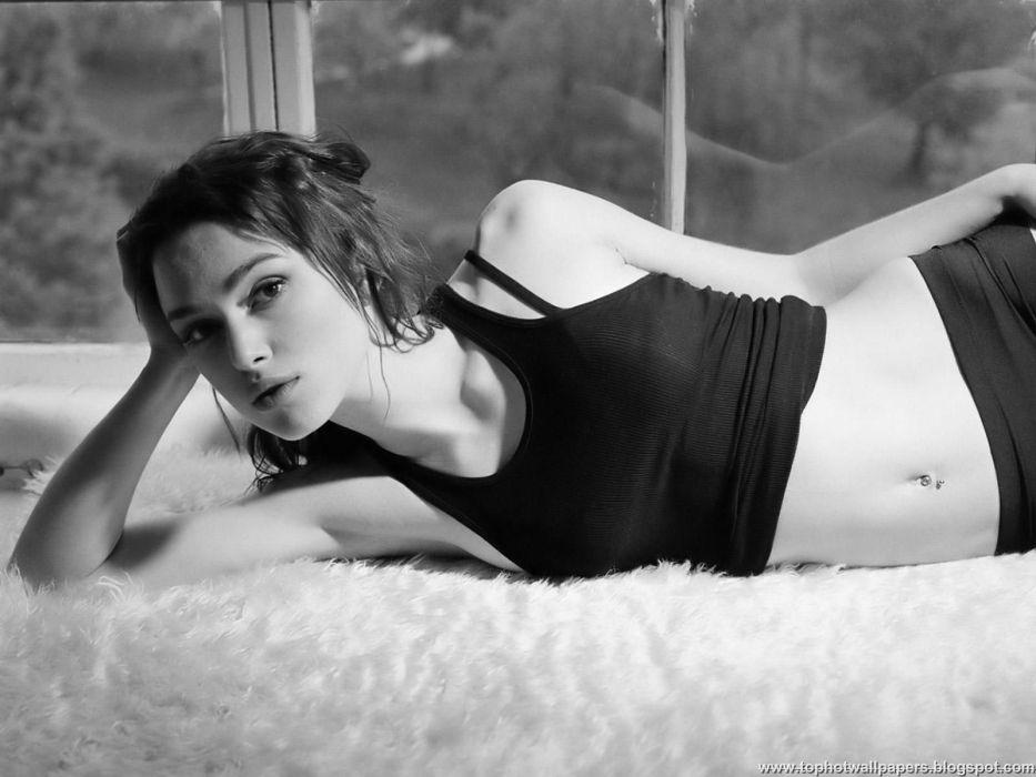 women actress Keira Knightley grayscale monochrome wallpaper
