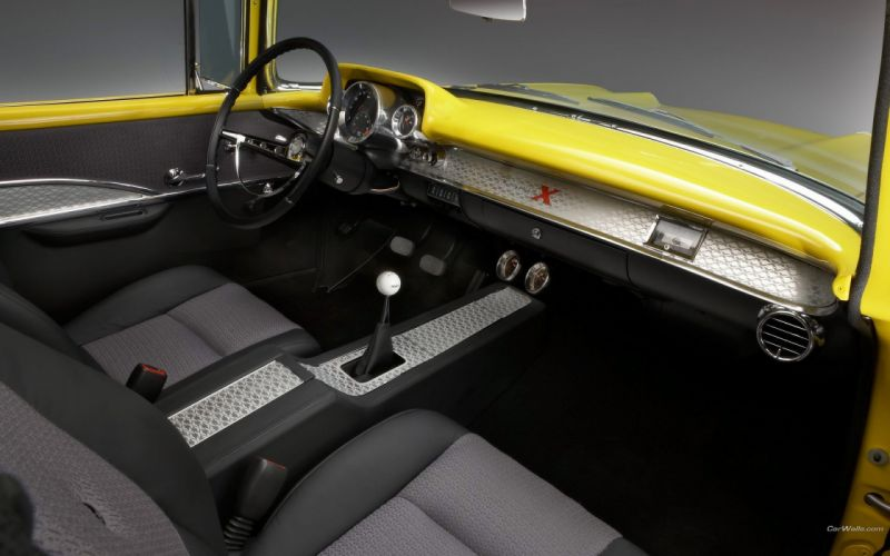 cars muscle cars Chevrolet car interiors Chevrolet Bel Air classic cars Chevrolet Project X (1957) wallpaper