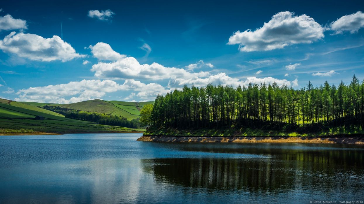 water landscapes nature trees islands lakes wallpaper