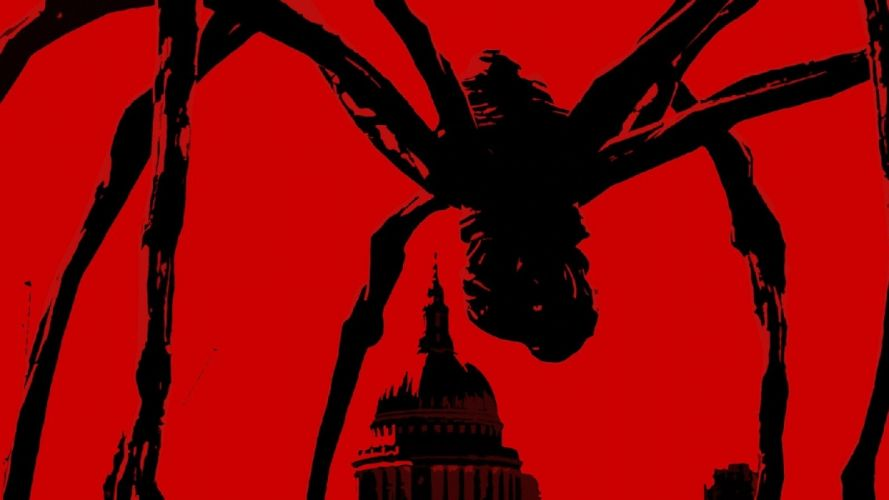 spiders simple background wallpaper
