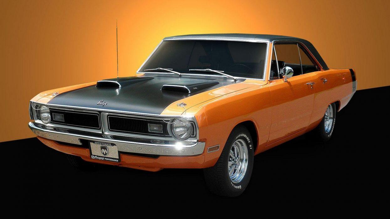 cars muscle cars widescreen 1970 Dodge Dart 340 wallpaper