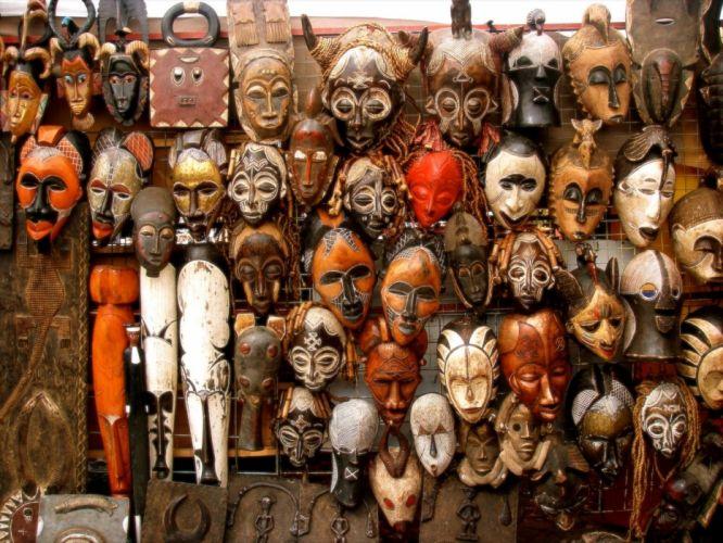 masks African wallpaper