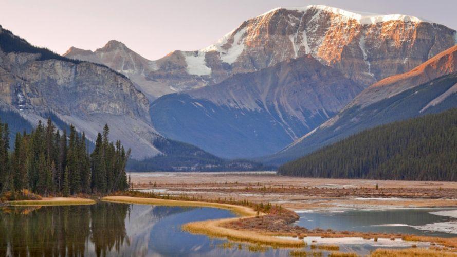 mountains Canada Alberta National Park wallpaper