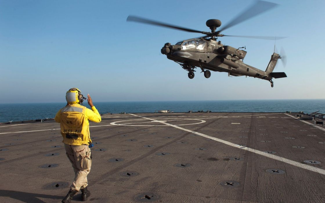 aircraft military helicopters US Navy aircraft carriers AH-64 Apache wallpaper