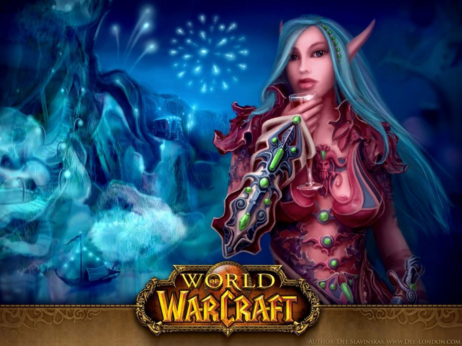 video games World of Warcraft blue hair Frozen Throne wallpaper