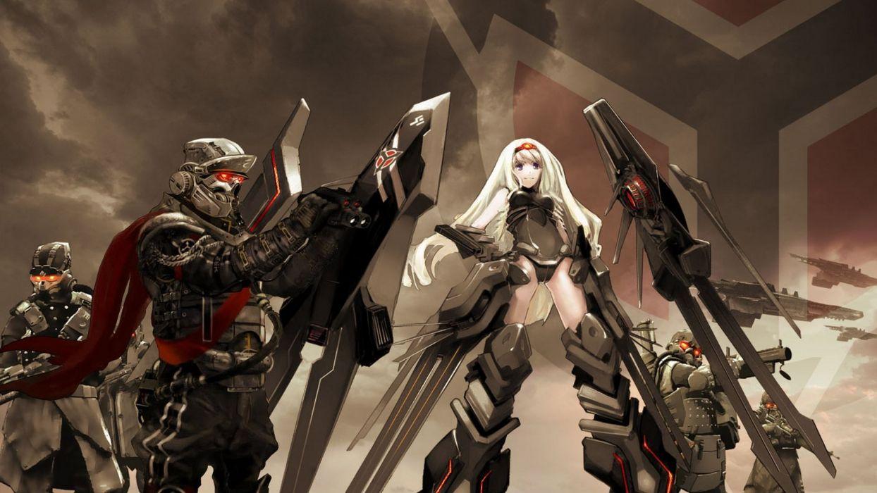 Killzone Infinite Stratos Alcott Cecilia mecha musume wallpaper