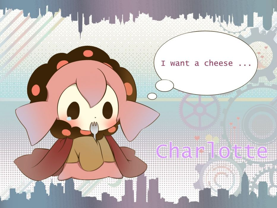 chibi Mahou Shoujo Madoka Magica blush anime Charlotte (Mahou Shoujo Madoka Magica) wallpaper