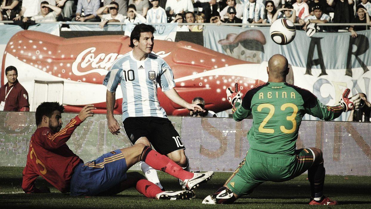 soccer Argentina balls match Spain Lionel Messi Gerard PiquAIA wallpaper