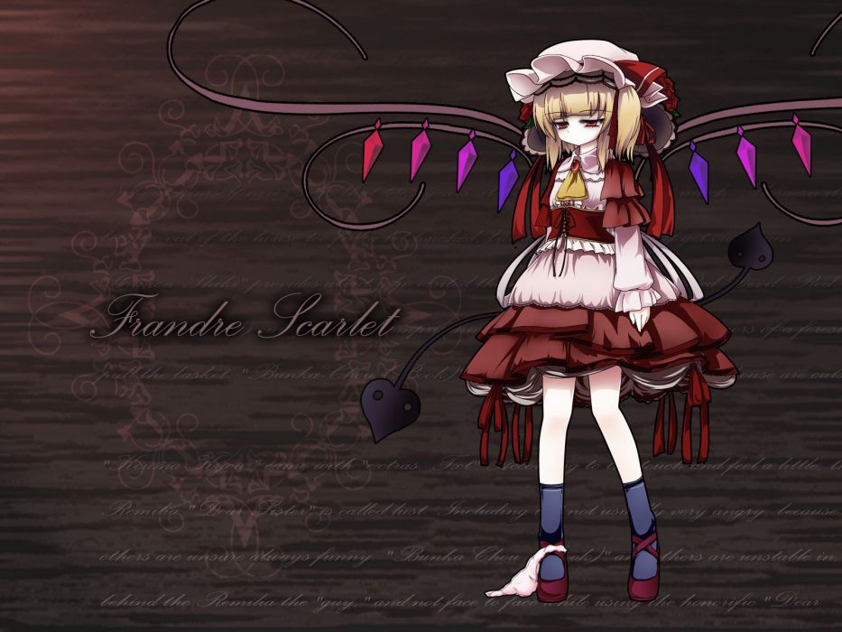 Touhou vampires Flandre Scarlet games wallpaper