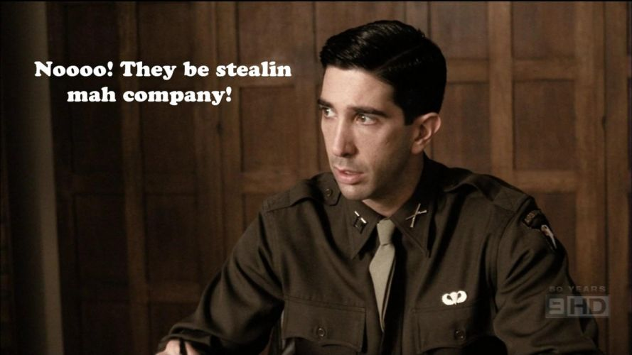 funny Band Of Brothers David Schwimmer wallpaper