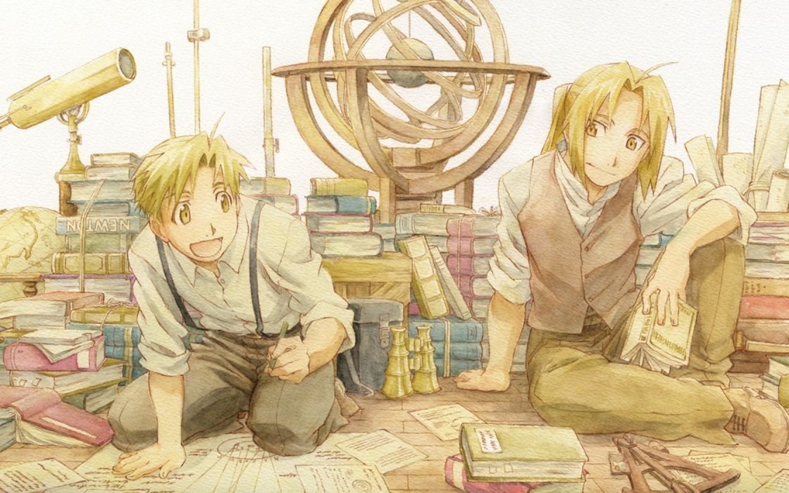 Elric Alphonse Elric Edward anime wallpaper