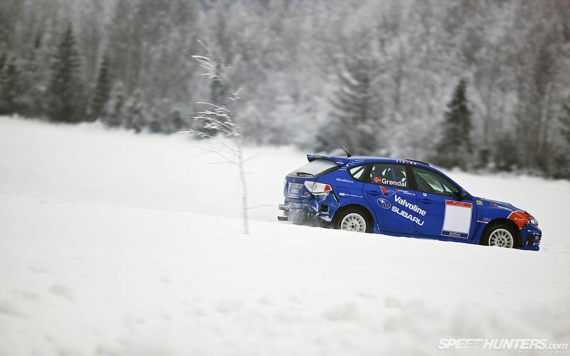 ice snow cars rally racing Artic drift speed hunters Gatebil wallpaper
