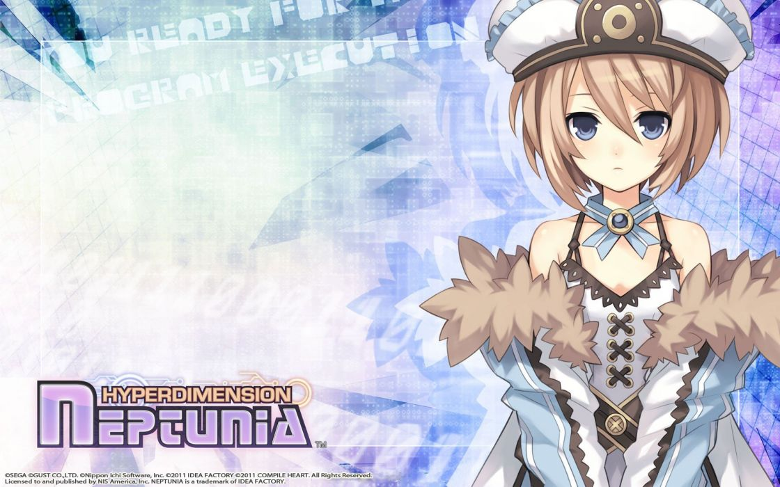brunettes video games anime girls Hyperdimension Neptunia  Blanc Heart wallpaper