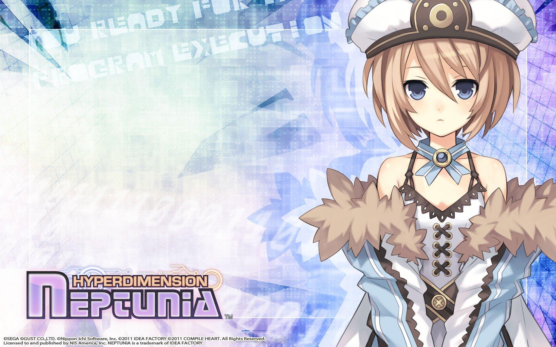 Brunettes Video Games Anime Girls Hyperdimension Neptunia Blanc